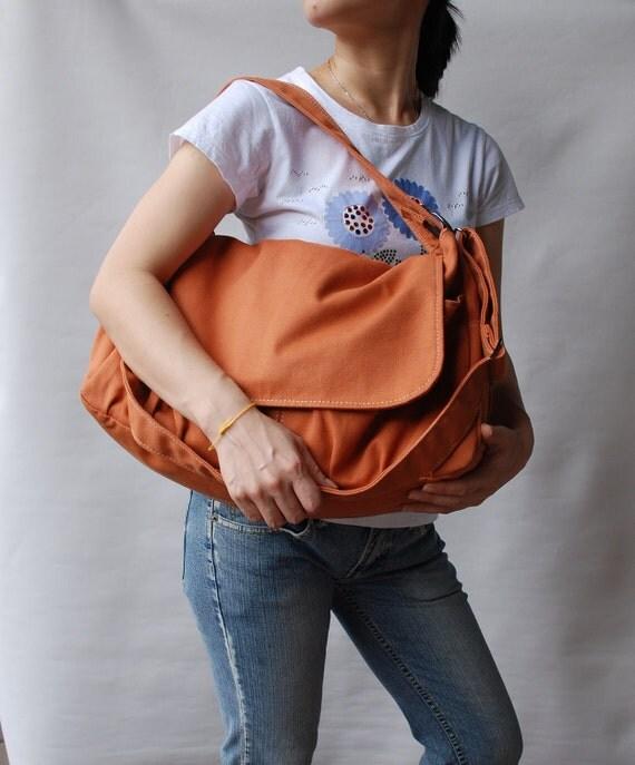 On Sale Pico, Pumpkin, School Bag, Shoulder Bag, Messenger Bag, Diaper Bag, Women, Canvas School bag, crossbody bag, Handbag