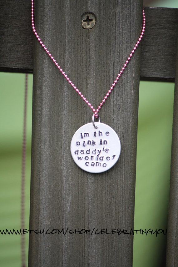 Hand Stamped Little Girl's Necklace