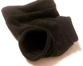 RESERVED for azailia  Fleece cloth diaper cover (Black, LARGE)