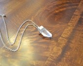 Gold Dipped Quartz Crystal Necklace