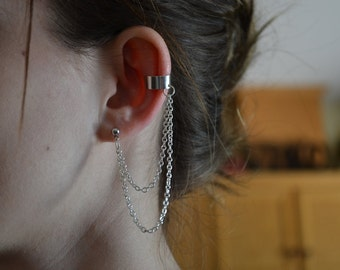 Layered Chain Ear Cuff