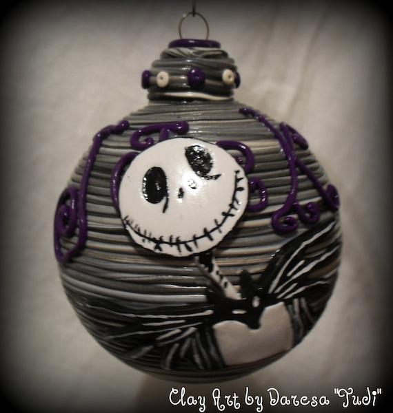 Jack Skellington Christmas Ornament: Jack Skellington Nightmare Before Christmas By ClayArtbyDaresa