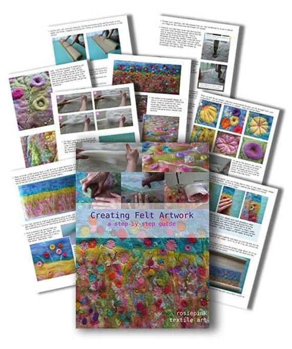 "Felting Tutorial eBook pdf  ""CREATING FELT ARTWORK"""