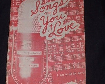 1950 songs you love 1st edition music book USA