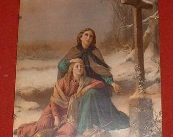 Victorian framed religious print
