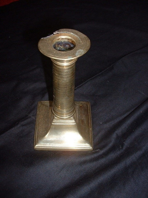 single goergian brass candle stick