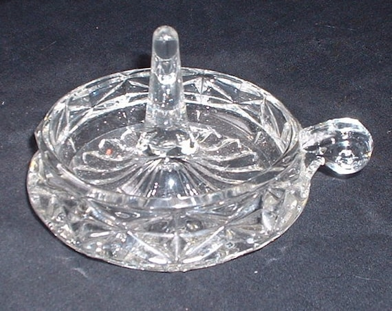 antique pressed glass ring tray holder