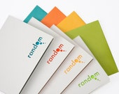 Random Thoughts Note Card Set of Four - Cut Paper - Tropical Colors