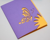 Recycled Cut Paper Butterfly Card