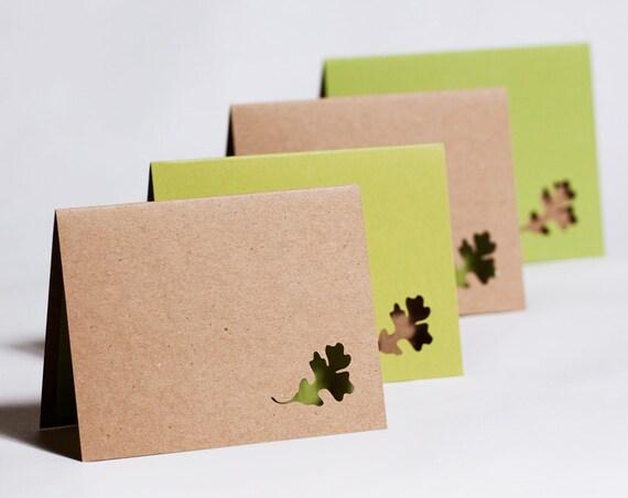Oak Leaf Card Set of Four