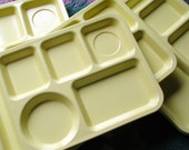 Yellow School Lunch Trays from the 70s Melamine - Weirdsville