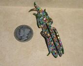 Reserved for prettystaffie Vintage Rhinestone Grasshopper Pin 1920's Art Deco Jewelry 3024