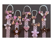 Letter Hair Clips Holder Spell out her name and keep her organized