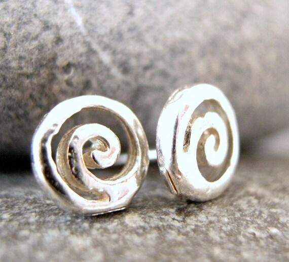 Grecian Sterling Silver Earring Studs