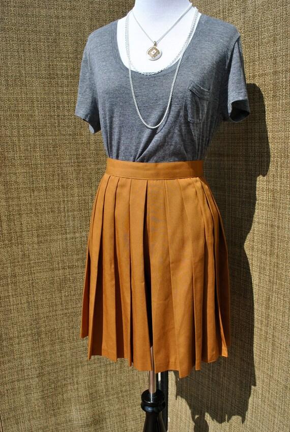Vintage 1980's Pleated High Waist Skirt Shorts