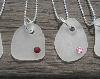 Sea Glass Birthstone Necklace