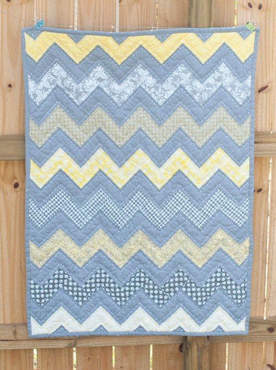 SPECIAL LISTING for JEN Chevron Baby Quilt