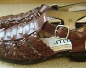 Brown Woven Leather Borelli Sandals With Buckle Fastening (size 5)