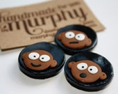 Afro Boys Polymer Clay Fridge Magnets Black/Brown