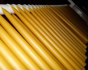 """6 sets hand dipped beeswax Tapers 10"""" x 1"""" Free Shipping"""