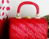 Lesco Lona Rare Red 60s Box Purse