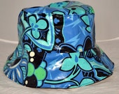 Vibrant Rain Hat - Bucket shaped  Hat made from Laminated Cotton