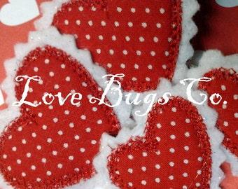 Felt Clippie Double Heart Hair Clip by Love Bugs Co.