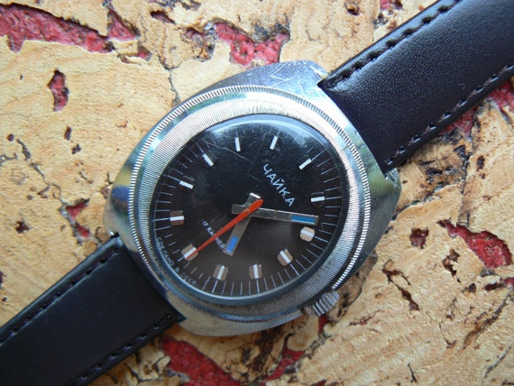 Vintage mens mechanical watch from Russia Soviet Union / Chaika