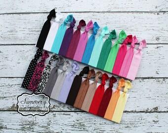 Hair Ties - Elastic Hair Ties - Ponytail Holders - 20 hair ties