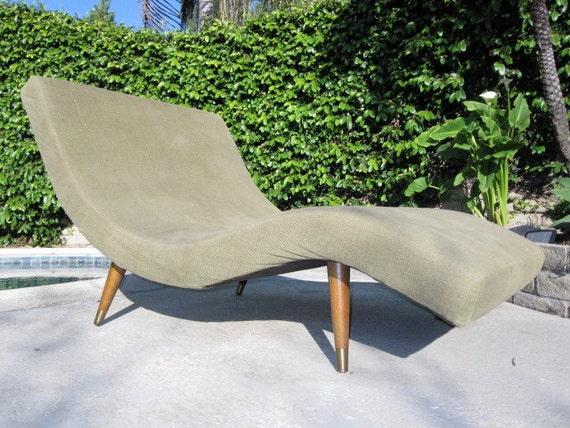 Retro Mid Century Wave Chaise Lounge