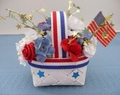 Miniature Patriotic Flower Basket Decoration