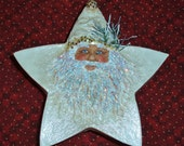 Shabby chic star santa box
