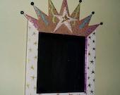 Framed crown mirror...