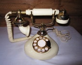 Vintage Hollywood French Style Rotary Telephone Classy Romantic Celebrity Style Ready to Use