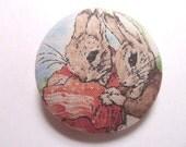 Sales -- Peter Rabbit with Benjamin Bunny Fabric Button