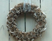 Wreath Made of Vintage Book Pages