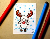 Jimmy the reindeer, ORIGINAL ACEO