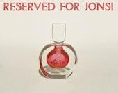 Perfume Bottle - Boudoir Pink - Correia - Vintage - RESERVED