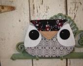 Owl Envelope Clutch Purse - Black and Grey