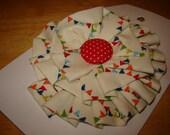 Bright Buntings Ruffly Fabric Brooch