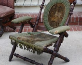 Antique Victorian Hunzinger SIGNED Chair circa 1866