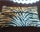 Black and Beige Zipper Pouch