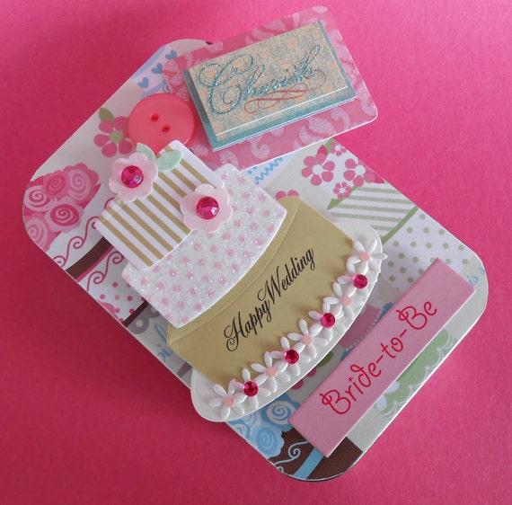 Wedding or Bridal Shower Gift Card Holder/ Keepsake Mini Altered Tin/ Cherish