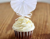 Crepe Paper Rosette Cupcake Toppers (Set of 12)