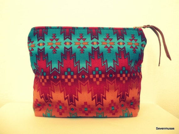 Turquoise Red Native Southwest Pouch
