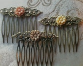 Hair Accessories, Decorative Combs, Flower Hair Combs, Cabochon Combs, Swarovski Crystal Hair Combs