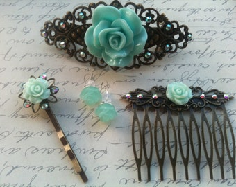Bobby Pins, Hair Accessories, Flower Bobby Pins, Hair Pins