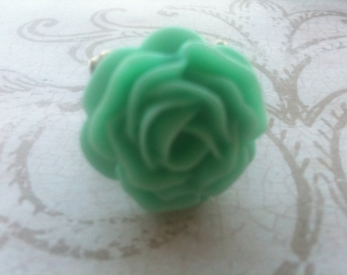 Jewelry Ring Adjustable Mint Green Rose Metal Fashion Jewelry High Quality Vintage Inspired