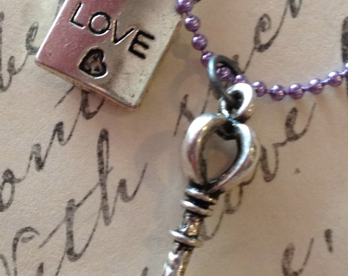 Wholesale Jewelry Necklace Key To My Heart Mother & Daughter Boyfriend Girlfriend Necklace
