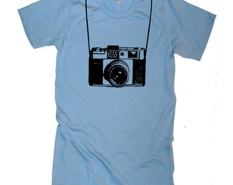 Vintage Camera funny T Shirt - American Apparel Tshirt - XS S M L Xl 2Xl (28 Color Options)